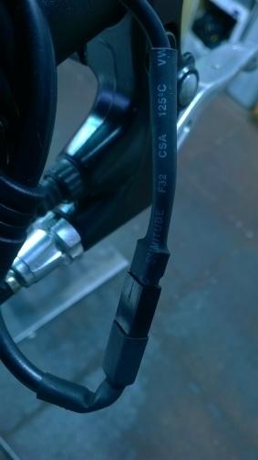 Brake engage / motor disengage connection