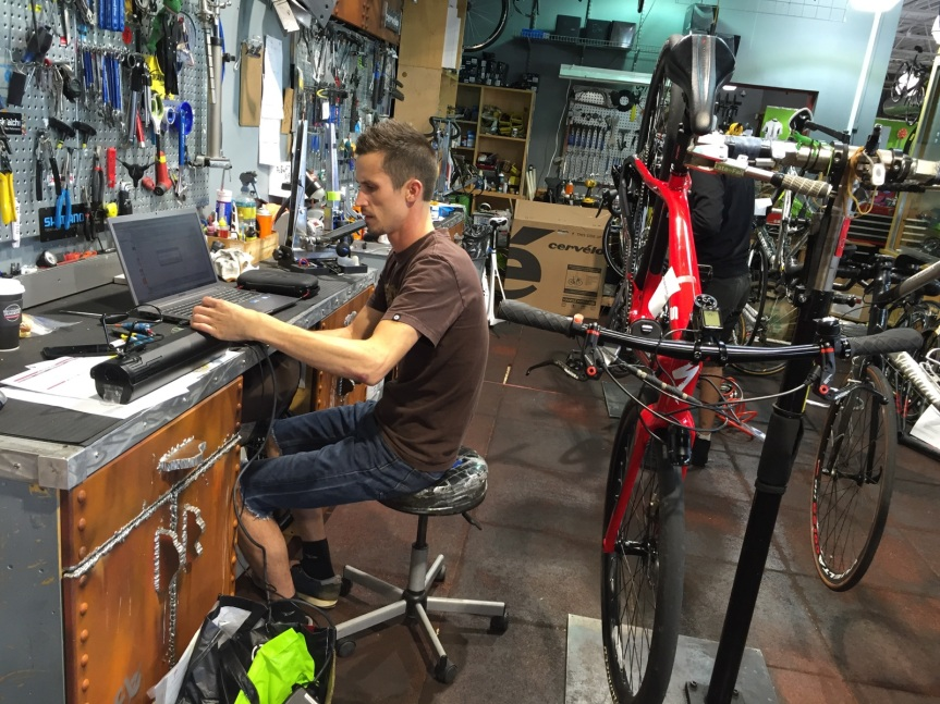 Me working on fixing these ebikes...